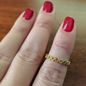 AmberRenée & Co Jewelry - 18k Gold Eternity True Love Hearts Band